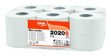 Celtex 2020S WC papír, MINI, 2 rétegű, reciklált, 150m, 1000 lap, d19,5, 12 tek/cs