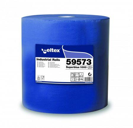 Celtex 59.573 Ipari törlőpapír, 3 rétegű, 100% cell., KÉK, 1000 lap (36×1000) cell., 360m
