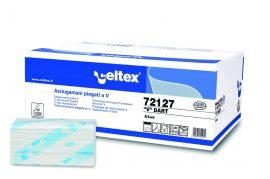 Celtex 72.127 Hajtogatott kéztörlő, 2 rétegű, 100 % cell., 21,5×22, 15×200
