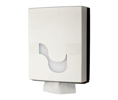 MEGAMINI Hajtogatott kéztörlő papír tartó, fehér