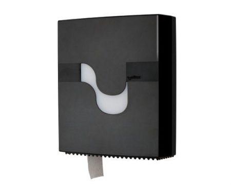 MEGAMINI Wc papír adagoló, Jumbo, fekete