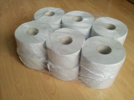WC papír, MINI, 1 rétegű, natúr, PRÉMIUM, 12 tek/cs