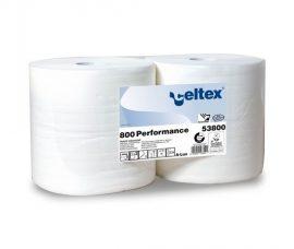 Celtex 53.800 Ipari törlőpapír, 100% cell, 2 rtg, 800 lap, fehér, 26,5×30 cm, d=30