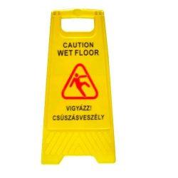 Nedves padló figyelmeztető tábla